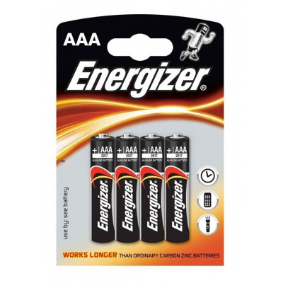 BLISTER 4 BATTERIE ENERGIZER ALKALINE POWER BATTERY AAA LR03